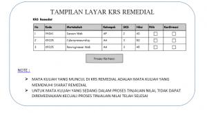 Pendaftaran Remedial D3 Unggulan Genap 2014/2015